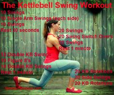 The Kettlebell Swing Workout