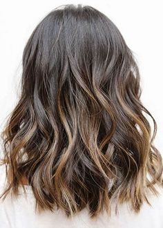 Balayage for Medium Length Hair. 10 Balayage Hairstyles for Shoulder Length Hair Medium Haircut 70 Flattering Balayage Hair Color Ideas for Medium Hair Styles, Curly Hair Styles, Natural Wavy Hair, Luscious Hair, Brunette Hair, Brunette Ombre, Ombre Sombre, Long Brunette, Sunkissed Hair Brunette