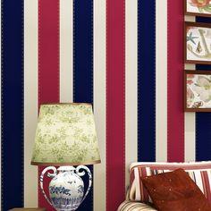 (31.36$)  Watch more here  - papel de parede para quarto em 3d wallpaper for living room bedroom TV backdrop simple vertical stripes red wall paper roll