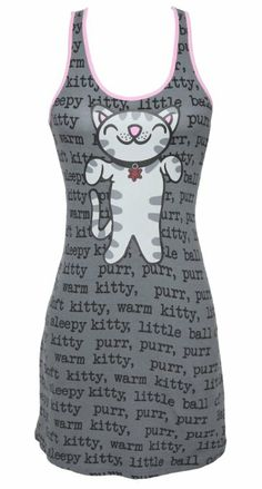 Big Bang Theory Soft Kitty Sleep Tank. For order or details click on the image!- NEED!-a.e.