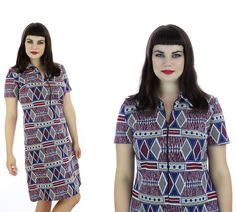 60s Mod Psychedelic Aline Dress Abstract by neonthreadsdesigns, $46.00