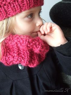 tuto snood garcon tricot