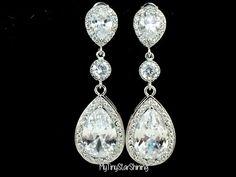 Wedding Earrings Bridal Jewelry Wedding by MyTinyStarShining