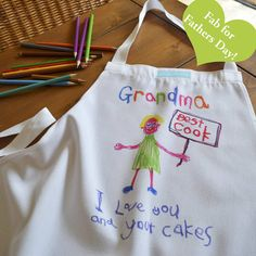 Your Child's Artwork Personalised Apron