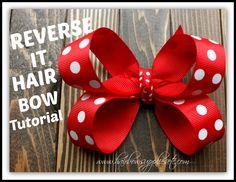 Reverse It Hair Bow Tutorial - DIY Hair Bow - Hairbow Supplies, Etc.