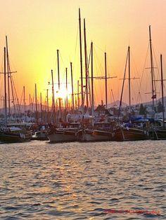 sunset in Bodrum