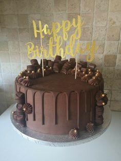 Chocolate Cake Designs, Chocolate Ganache Cake, Dark Chocolate Cakes, Homemade Chocolate, Chocolate Recipes, Chocolate Garnishes, Chocolate Birthday Cake Decoration, Birthday Cake Decorating, Food Cakes
