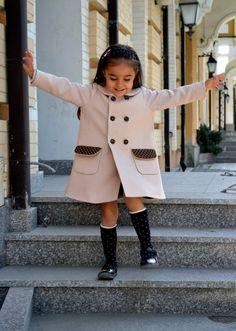 Girl sweet coat