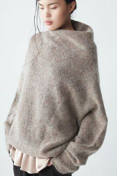 A Softie Fashion details- Extra soft mohair sweater with high collar and long sleeves by Neemic. The post A Softie appeared first on Best Ideas For Women. Looks Street Style, Looks Style, Style Me, Fashion Details, Look Fashion, Womens Fashion, Classy Fashion, Milan Fashion, Korean Fashion