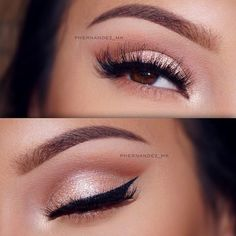 39 Top Rose Gold Makeup Ideas To Look Like A Goddess Gold makeup as well as pink makeup is really jazzy right now. Have you already tried this charming and trendy makeup look? Rose Gold Makeup Looks, Pink Makeup, Beauty Makeup, Makeup With Pink Dress, Golden Makeup, Makeup Style, Beauty Style, Wedding Makeup Tips, Bridal Makeup