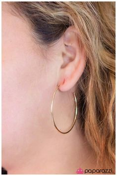 Hoop There It Is - gold earrings