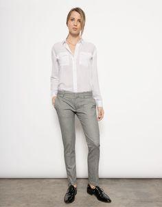 Pantalon cigarette Lizzy - VINYLE BLACK - Reiko Jeans
