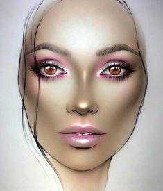 Pin by sepide safatalab on makeup макияж mac, дерзкий макияж, макияж глаз Makeup Goals, Makeup Inspo, Makeup Inspiration, Mac Face Charts, Makeup Face Charts, Lime Crime Makeup, Festival Makeup, Makeup Forever, Beauty Art