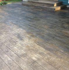 Embossed Concrete Patio In Hilliard, Ohio | Custom Concrete Plus. Concrete  PatiosConcrete WoodStamped ...