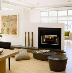 Half wall on pinterest half walls room dividers and for Hearth room furniture layout ideas