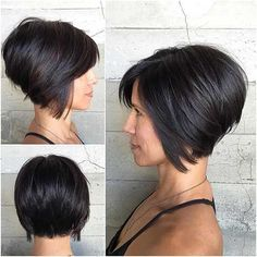 Image result for Stacked Bob for Thin Hair Black Hair