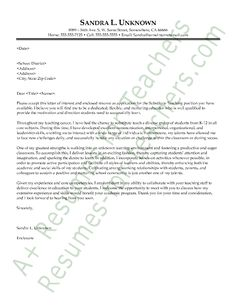 Cover letter for fine art teacher position