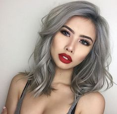 Smokey grey lob by Chantelle