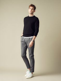 120 awesome spring street style ideas for men's inspiration 4 Fashion Mode, Minimal Fashion, Fashion Trends, Stylish Men, Men Casual, Stylish Clothes, Business Dress, Herren Outfit, Outfit Jeans