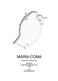 Cartell del concert de la Maria Coma a duo amb Pau Vallvé a la terrassa del Portal 22. Poster design.