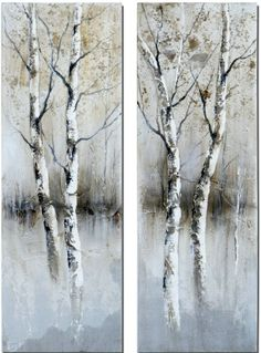 South Shore Decorating: Carolyn Kinder 41810 Birch Tree Panels I, II Wall Art / Wall Decor - Set of 2 UM-41810