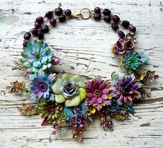 I adore this gorgeous necklace by Wendy Baker of Bendy Who. The colours are so beautiful.