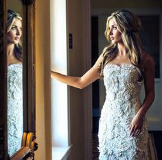 Oscar De La Renta wedding gown - Bride: Jordan Vaughn