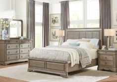Clairfield Tobacco 5 Pc King Panel Bedroom | Pinterest | King ...