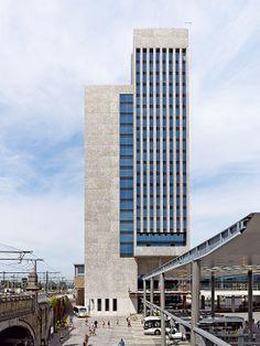 Röben Klinker, Bricks | Brick-Design® Bürokomplex Gent (B) Röben Klinker YUKON, Sondersortierung - 90m hoher Büroturm