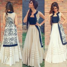 Indo western dresses for girls are a trending Outfit among girls and women. Adore the best indo western dresses for girls and ladies with us. Indian Attire, Indian Wear, Indian Outfits, Indian Style Clothes, Indian Gowns, Pakistan Street Style, Lehenga Designs, Indian Designer Wear, Party Wear