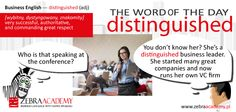 The Word of The Day | Distinguished | Zebra Academy | Natice Speaeker | Business English | Warszawa