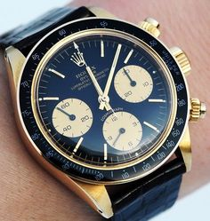 ROLEX DAYTONA 6263 Circa 1979 i love watches, especially mens watches i like mens watches better than womens hands down hahah Dream Watches, Fine Watches, Luxury Watches, Cool Watches, Rolex Watches, Watches For Men, Men's Rolex, Stylish Watches, Rolex Submariner