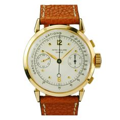 dream watch--LOVE the details. Patek Philippe - Yellow Gold Chronograph