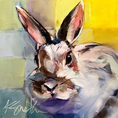The official Easter Bunny, an original oil painting by Lancaster, Pa artist Kim Smith Real Easter Bunny, Visual And Performing Arts, Bunny Art, Animal Paintings, Artist Art, Cat Art, Painting Inspiration, Cool Drawings, Original Paintings
