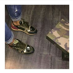 These though Valentino Camo Valentino Camo Sneakers, Valentino Trainers, Valentino Boots, Valentino Women, Camouflage, Dream Shoes, Shoe Closet, Shoe Game, Air Max Sneakers