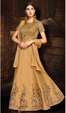 Brown Color Silk Long Anarkali Style Salwar Kameez | FH502076705 #indian , #salwar , #kameez , #dresses , #suits , #women , #ledies , #designer , #clothing , #boutique , #online , #shopping , #anarkali , #churidar , #palazo , @heenastyle , #dupatta , #fashion , #mode , #henna , #mehendi