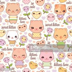 453880457-kawaii-cat-friends-repeating-background-gettyimages.jpg (414×414)