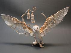 Fantasy Clay Creatures Owl by Ellen Jewett