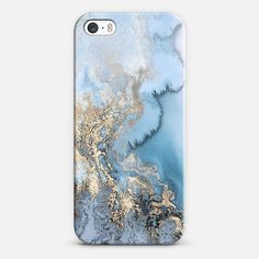 Exotic Gold and Blue Marble iPhone SE case by Marblous | @casetify