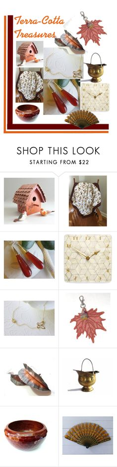 """""""Terra-Cotta Treasures"""" by inspiredbyten ❤ liked on Polyvore featuring House & Home and vintage"""
