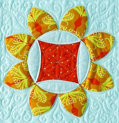 """A """"Summer Breeze"""" block from C&T Publishing's book """"Flip & Fuse Quilts"""" by Marcia Harmening of Happy Stash Quilts"""