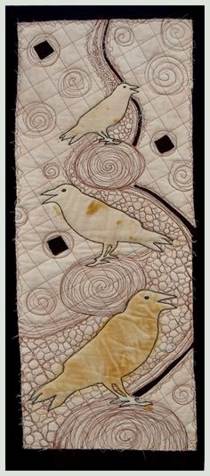 Raven Quilt  2 By Art Quilter and textile artist Cindy Watkins