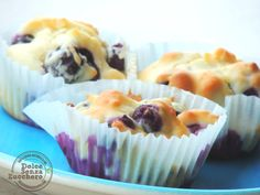 Muffin ai Mirtilli Senza Glutine e Senza Zucchero