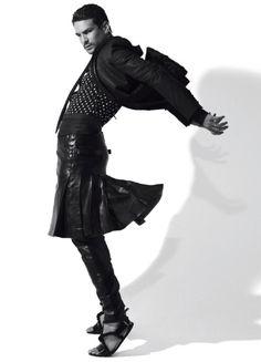 """El Torero"" Featuring: Bullfighter José María Manzanares Photographer: Jean-Baptiste Mondino Styling: Carine Roitfeld"