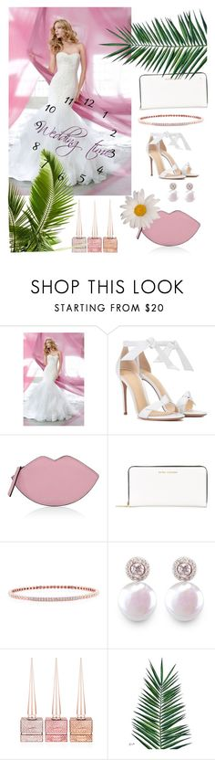 """""""Summer pink wedding"""" by morninglady ❤ liked on Polyvore featuring Alexandre Birman, Kendall + Kylie, Marc Jacobs, Anne Sisteron, ORA Pearls, Christian Louboutin and Nika"""