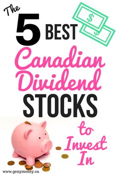 The 5 Best Canadian Dividend Stocks to Invest In. Here are my top five most favourite Canadian dividend stocks that I am a huge fan of. These dividend aristocrats have been paying dividends (and increasing them) for years. - Earn Money at home Stock Market Investing, Investing In Stocks, Investing Money, Dividend Investing, Dividend Stocks, Investment Portfolio, Investment Quotes, Investment Books, House