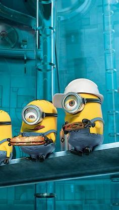 Minions at work Wallpaper