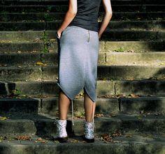Dresowa spódnica ołówkowa S/M w ivy-style na DaWanda.com