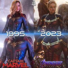 Why Doesn't Captain Marvel Look Like She Ages? Marvel Avengers, Marvel Comics, Marvel Girls, Marvel Heroes, Avengers Women, Funny Marvel Memes, Marvel Jokes, Disney Marvel, Spiderman