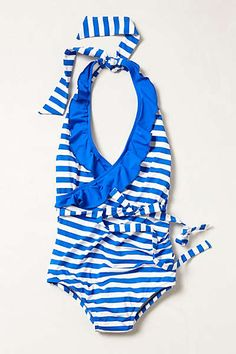 """Anthropologie - Ruffled Halter Maillot this may not be """"yummy"""" but it's super cute!"""